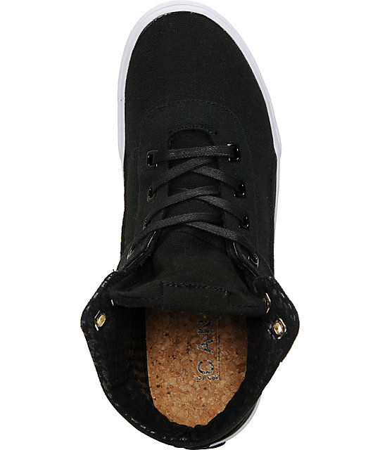 Project CANVAS Primary High Black Canvas Skate Shoes