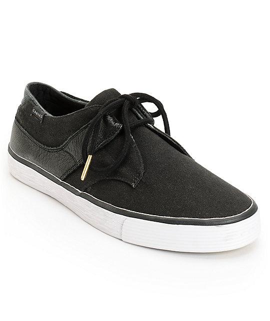 project canvas tint black white canvas skate shoes zumiez