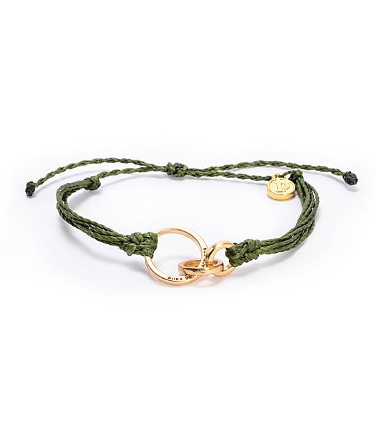 Pura Vida 3 Ring Forget Green Bracelet