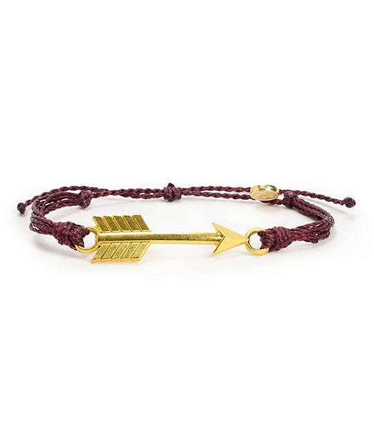 Pura Vida Arrow Burgundy Bracelet At Zumiez Pdp