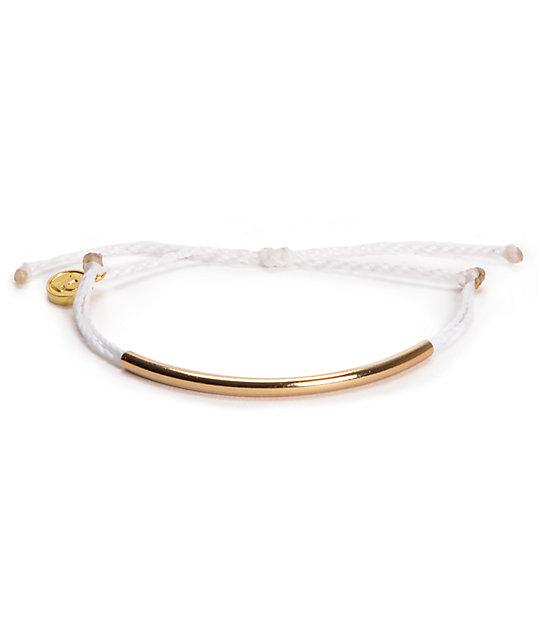 Pura Vida Bar White Bracelet
