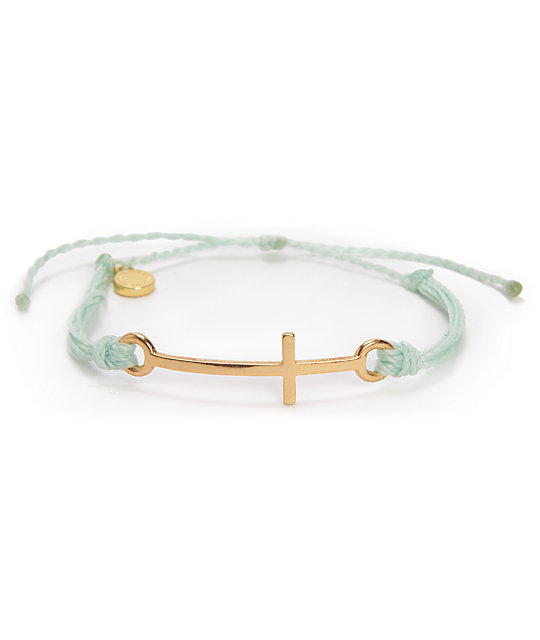 Pura Vida Cross Mint Green Bracelet