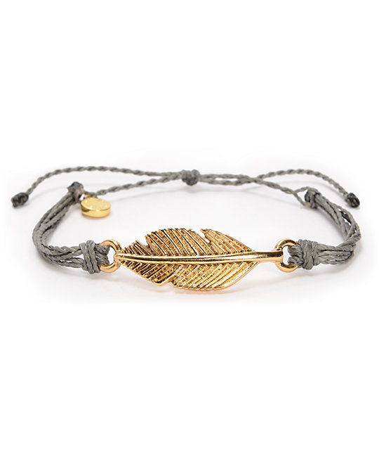 Pura Vida Leaf Grey Bracelet