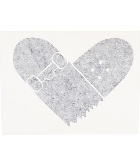 Quagmire Skate Heart Black Decal Sticker