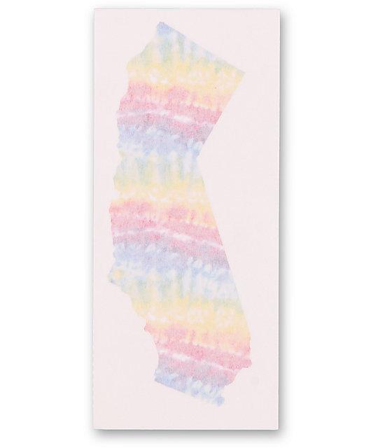Quagmire Tie Dye Trippy CA Sticker