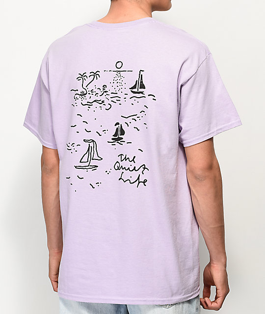 Quiet Life Sail Light Purple T Shirt by The Quiet Life