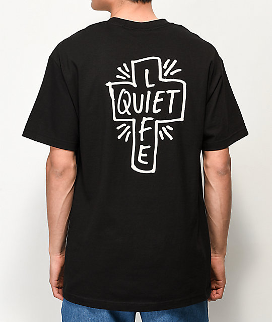 Quiet Life Sharpie Logo Black T Shirt by The Quiet Life