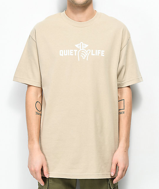 Quiet Life Shhh Beige T Shirt by The Quiet Life