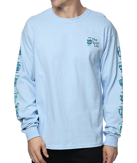 Life Vase Light Blue Long Sleeve T-Shirt