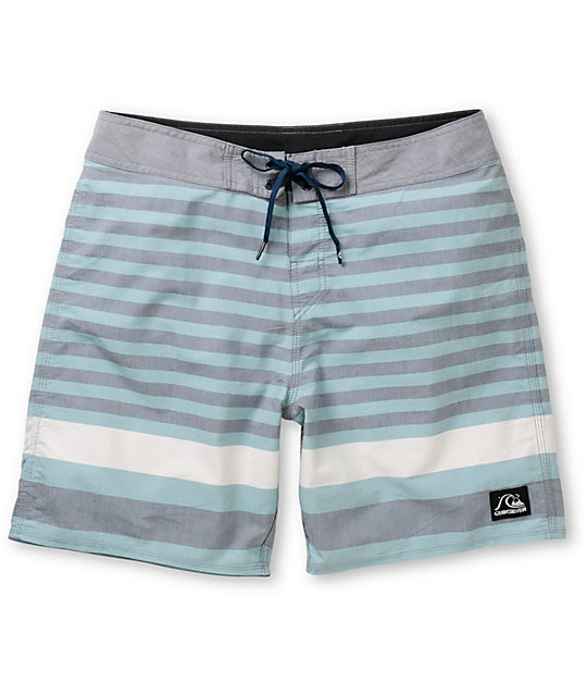 Quiksilver Biarritz Blue Stripe 19 Board Shorts