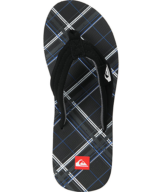 Quiksilver Foundation Black, Blue & White Sandals