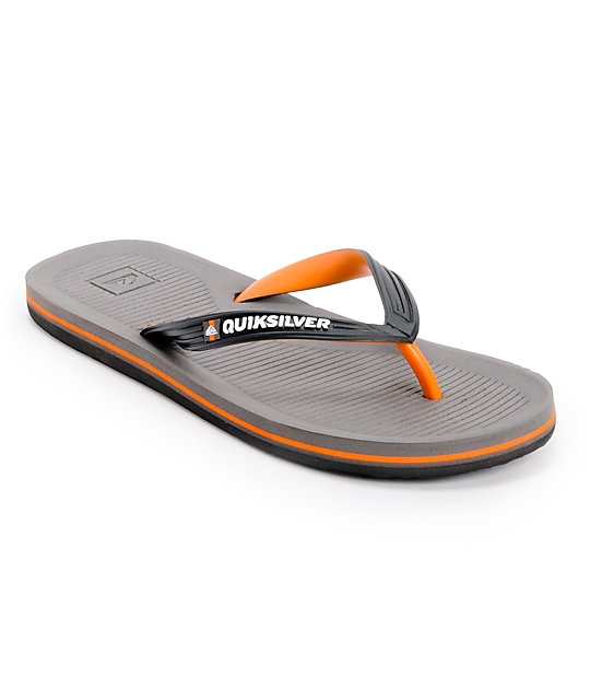 Quiksilver Haleiwa Black, Orange, & Grey Sandals
