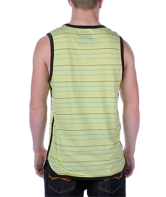 Quiksilver Loot Horse Yellow Tank Top