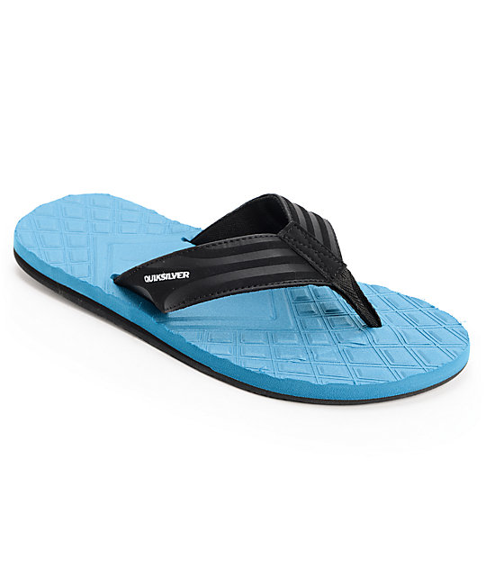 Quiksilver Monkey Textured Blue & Black Sandals