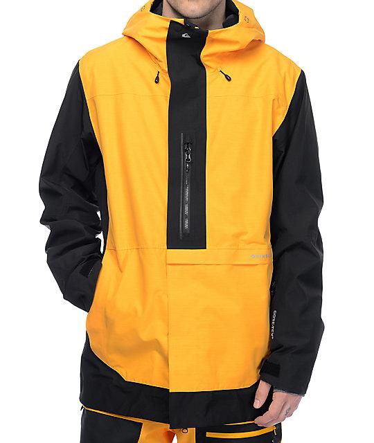 Quiksilver Travis Rice Exhibition GORE-TEX Yellow & Black Snowboard Jacket