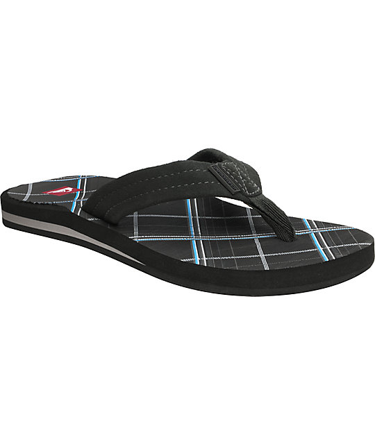 Quksilver Carver 2 Suede Black Sandals
