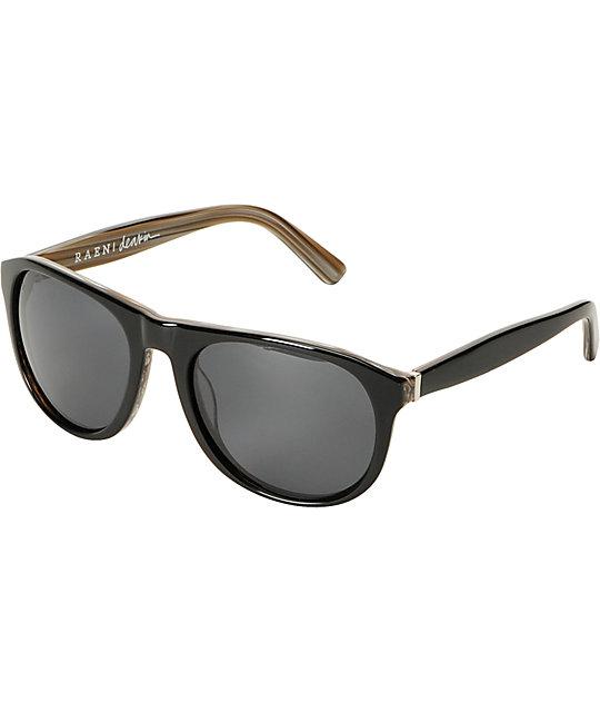 RAEN Optics Deakin Wood Grain & Black Polarized Sunglasses
