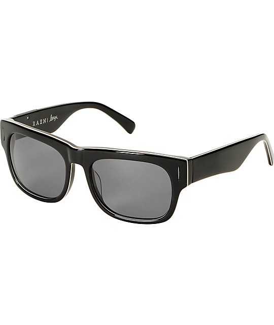 RAEN Optics Lenox Black & White Polarized Sunglasses
