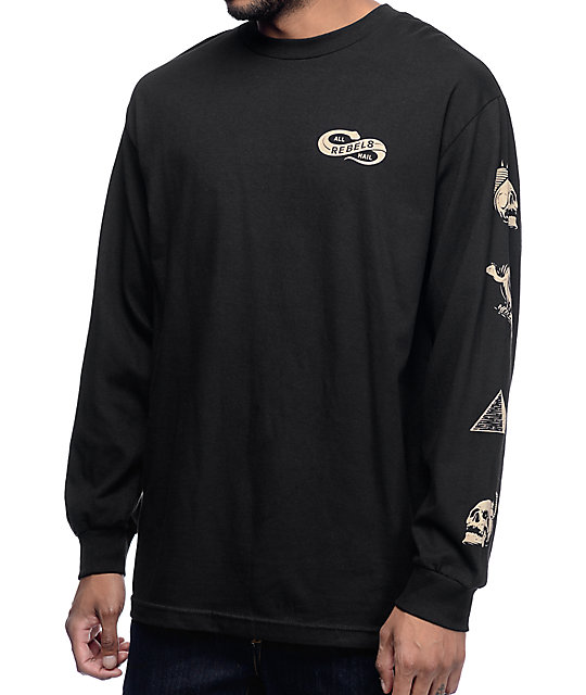 REBEL8 All Hail Black Long Sleeve Shirt at Zumiez : PDP
