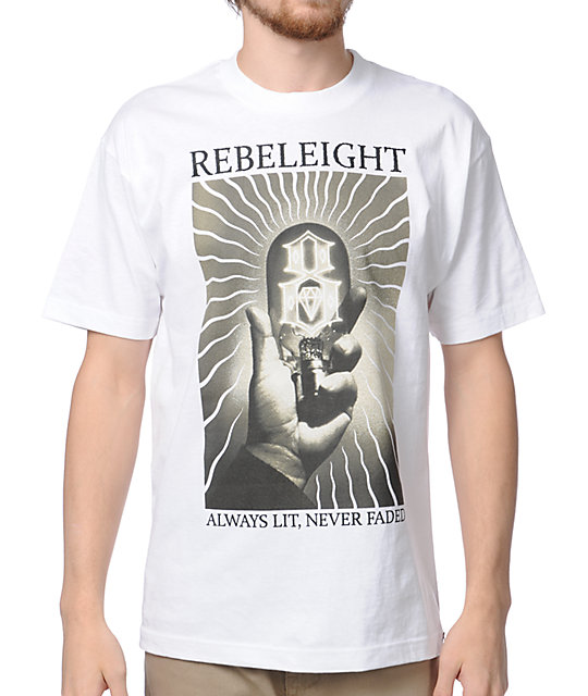 REBEL8 Always Lit White T-Shirt