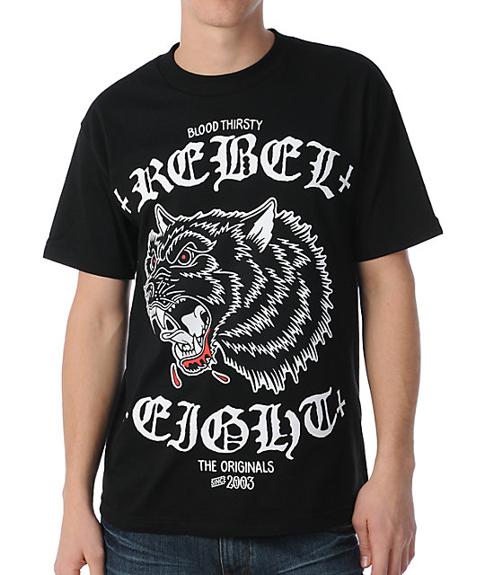 REBEL8 Blood Thirsty Black T-Shirt