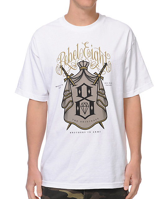 REBEL8 Brother In Arms White T-Shirt