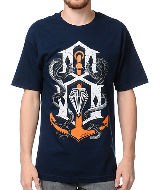 REBEL8 Capsized Blue T-Shirt