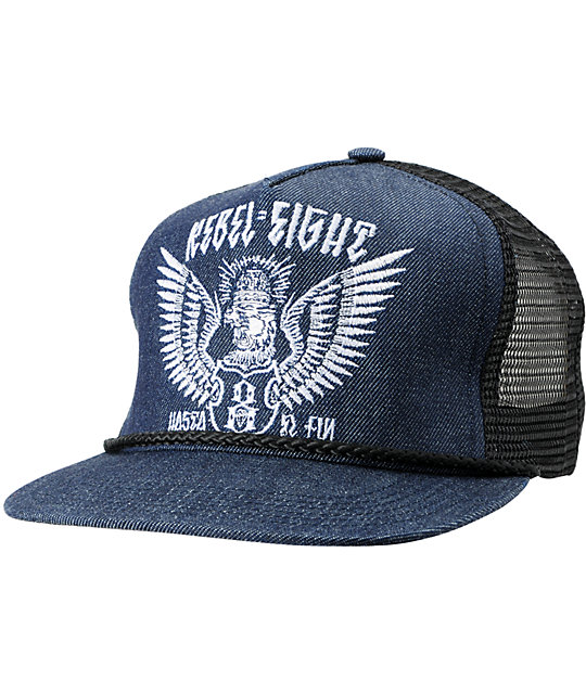 REBEL8 Darwin Denim Snapback Trucker Hat