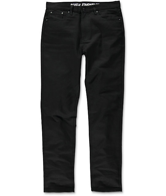 REBEL8 Duck Canvas Black Standard Fit Pants