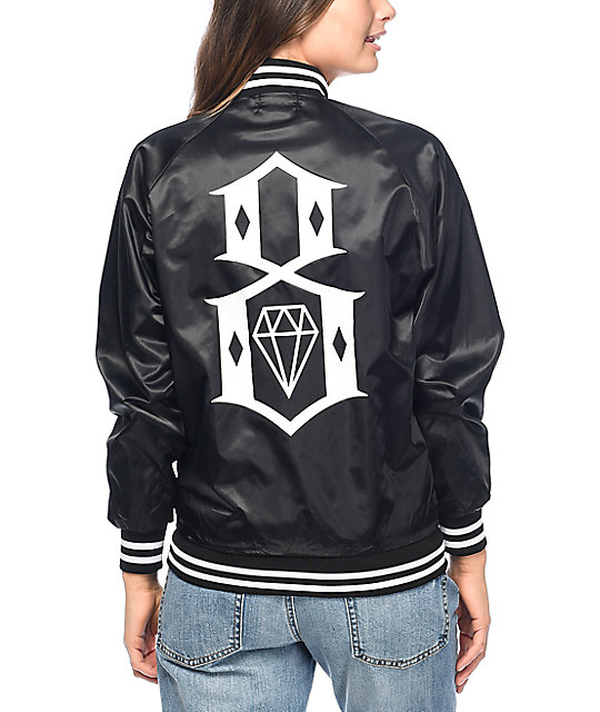 REBEL8 Eight Or Die Black Bomber Jacket