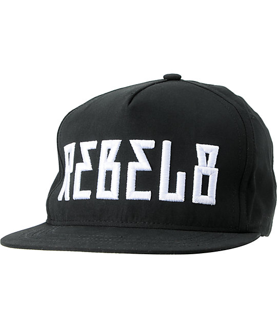 REBEL8 In Us We Trust Black Snapback Hat