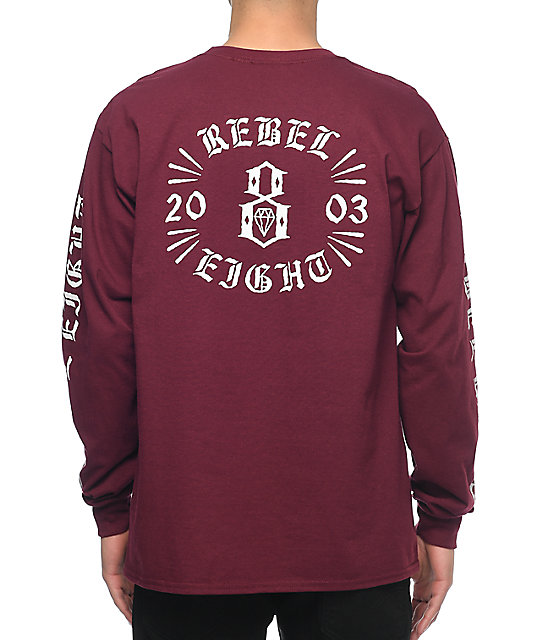 Indestructible Burgundy Long Sleeve T-Shirt