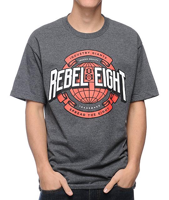 REBEL8 Industry Giants Charcoal T-Shirt