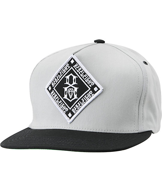 REBEL8 Infield Black & Grey Snapback Hat