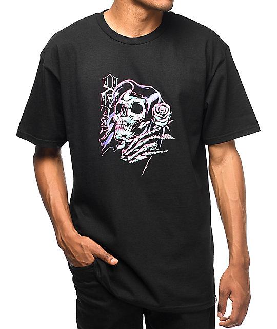 REBEL8 James Jirat Romance Black T-Shirt