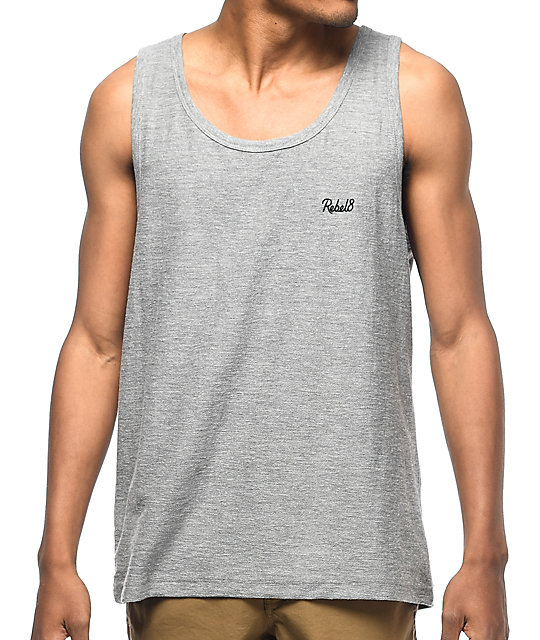REBEL8 Lakeview Heather Grey Tank Top
