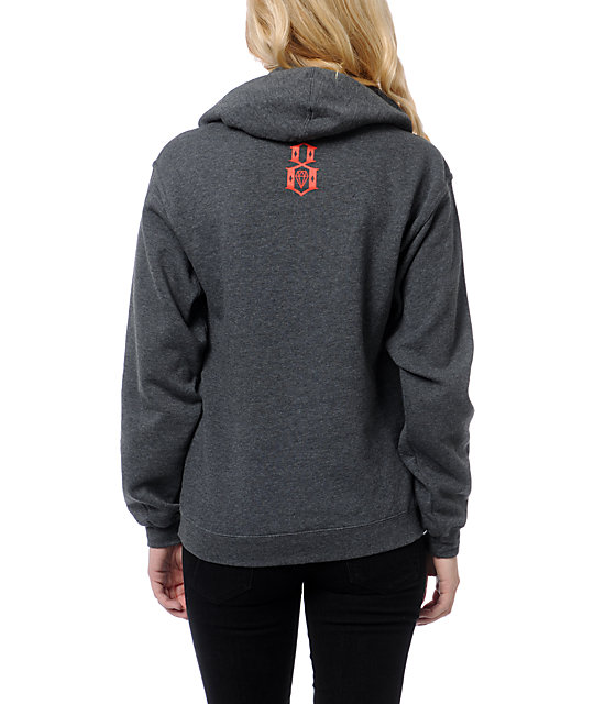 REBEL8 Live Or Let Die Charcoal Pullover Hoodie