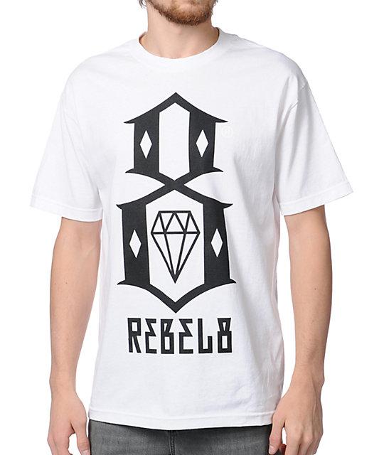 REBEL8 Logo White T-Shirt