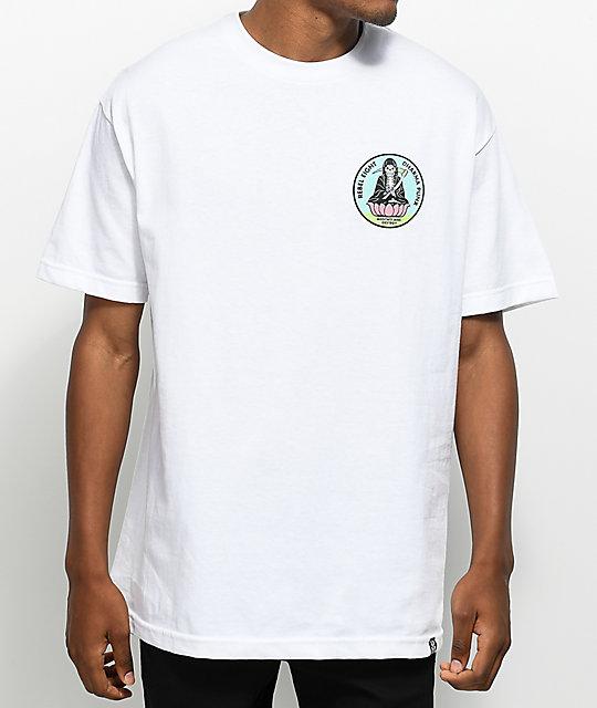 REBEL8 Meditate White T-Shirt