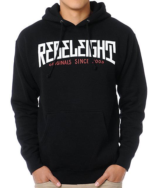 REBEL8 Mighty Black Pullover Hoodie