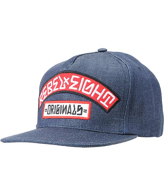 REBEL8 Originals Denim Snapback Hat