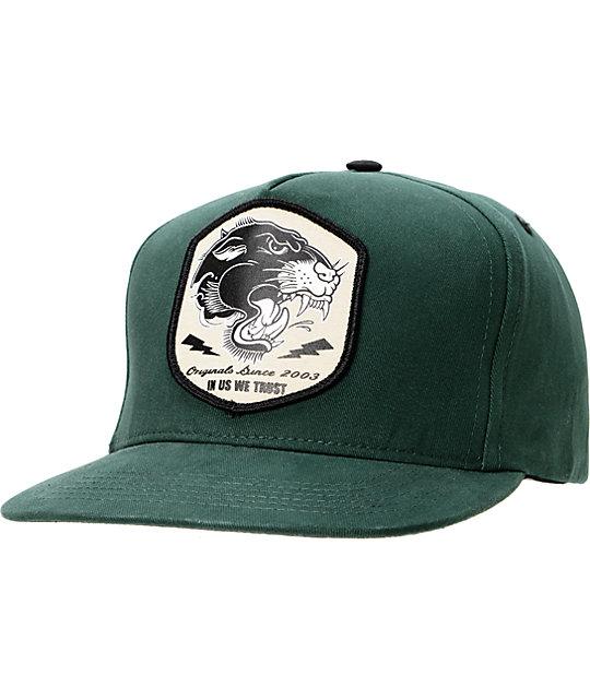 REBEL8 Pantera Forrest Green Snapback Hat