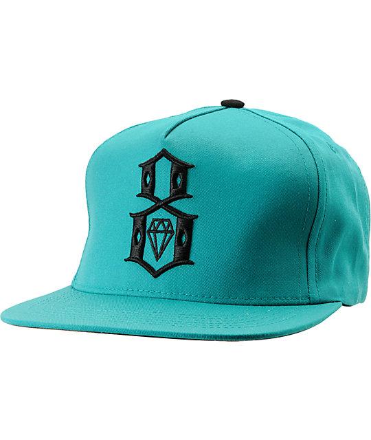 REBEL8 R8 Logo Teal Snapback Hat