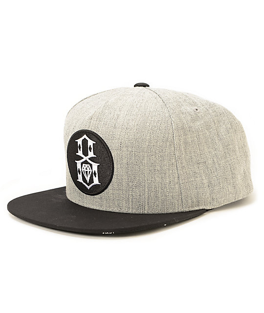 REBEL8 Round Logo Snapback Hat