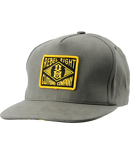 REBEL8 Scout Army Green Snapback Hat