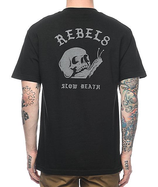 REBEL8 Slow Death Black T-Shirt