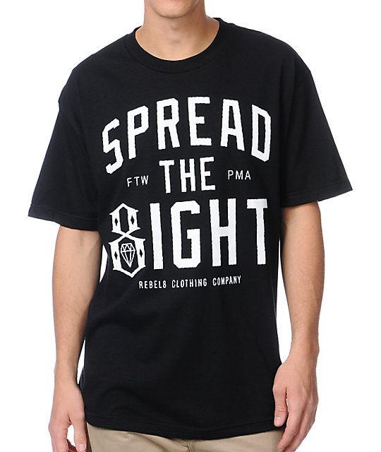 REBEL8 Spread the 8ight Black T-Shirt