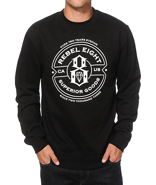 REBEL8 Superior Crew Neck Sweatshirt