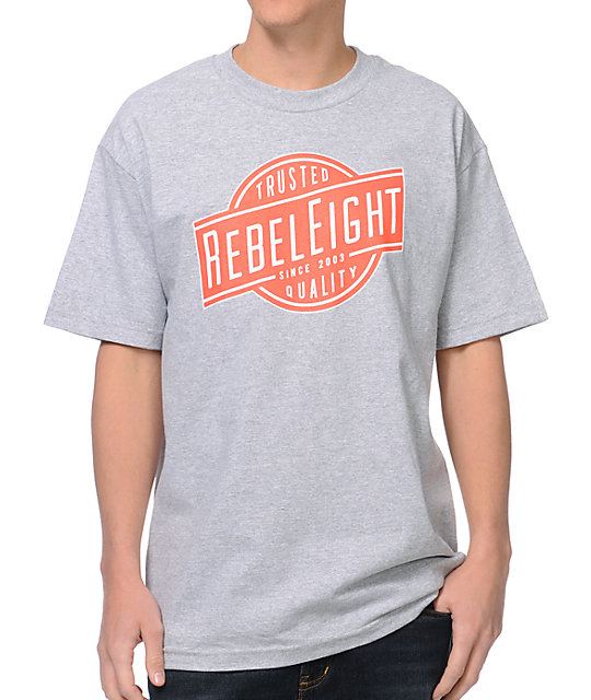 REBEL8 Trusted Quality Heather Grey T-Shirt