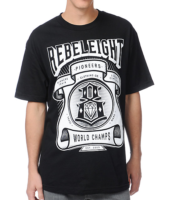 REBEL8 World Champs Black T-Shirt